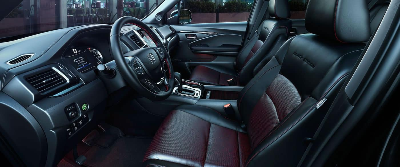 2017 Honda Ridgeline Black Edition Front Interior Seating and Dash