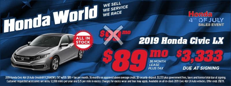 HWD-JUL19-Web-Banners-800x300-(2019-Honda-Civic-LX)