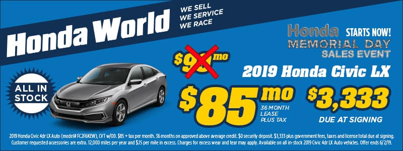 HWD-MAY19-Web-Banners-800x300-R3-(2019-Honda-Civic-LX)