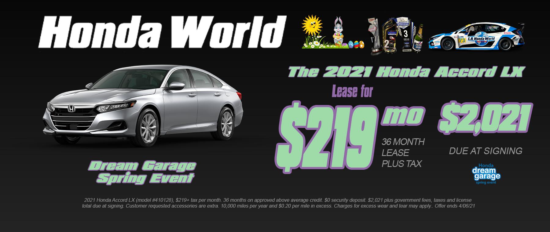 Honda Accord Lease Los Angeles
