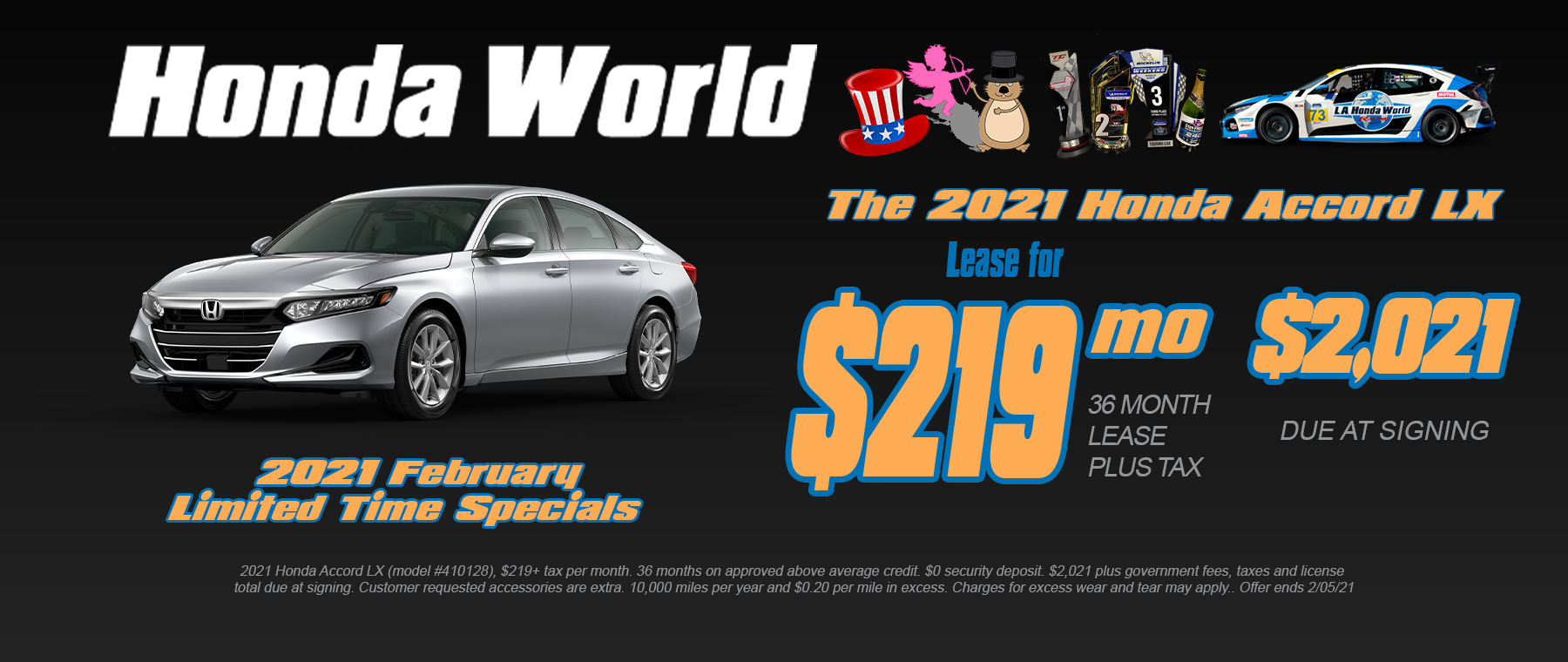 2021 Honda Accord Lease Offer Los Angeles