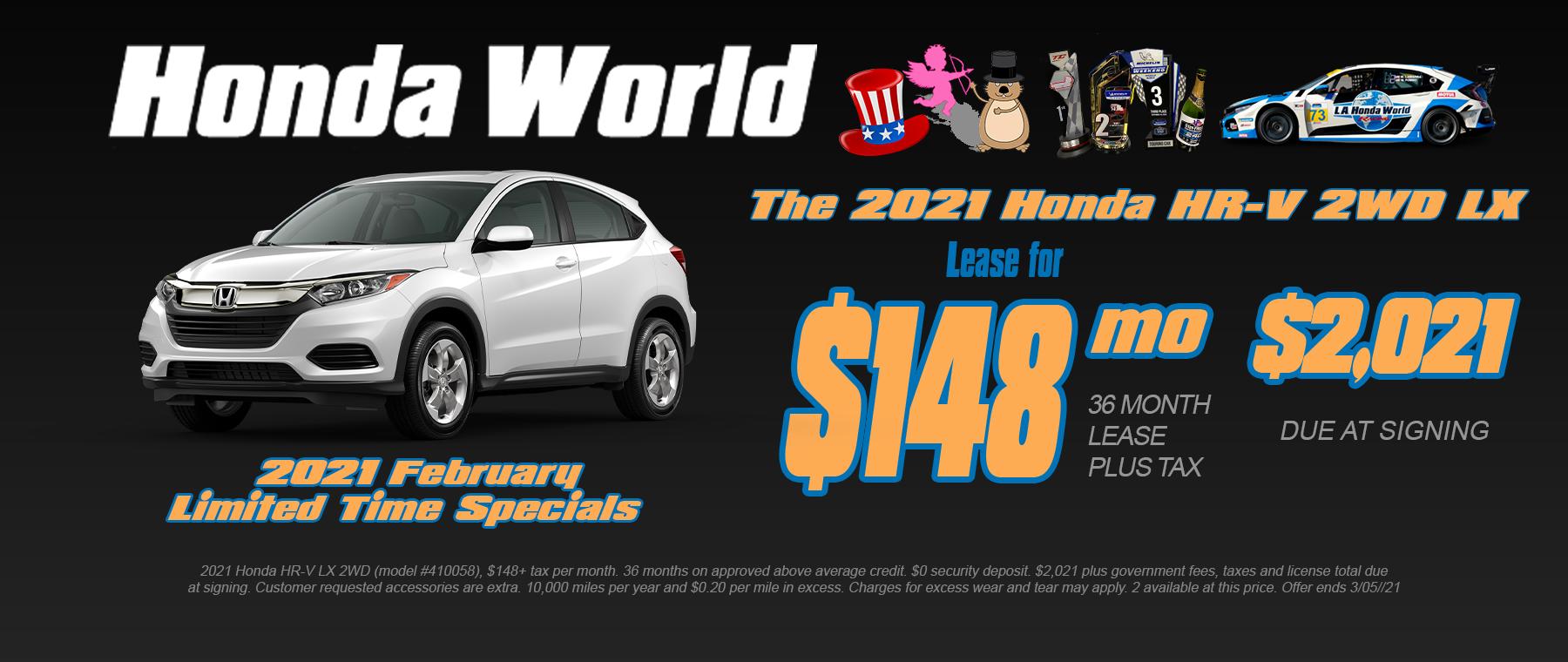 Honda HR-V Lease Offer Los Angeles
