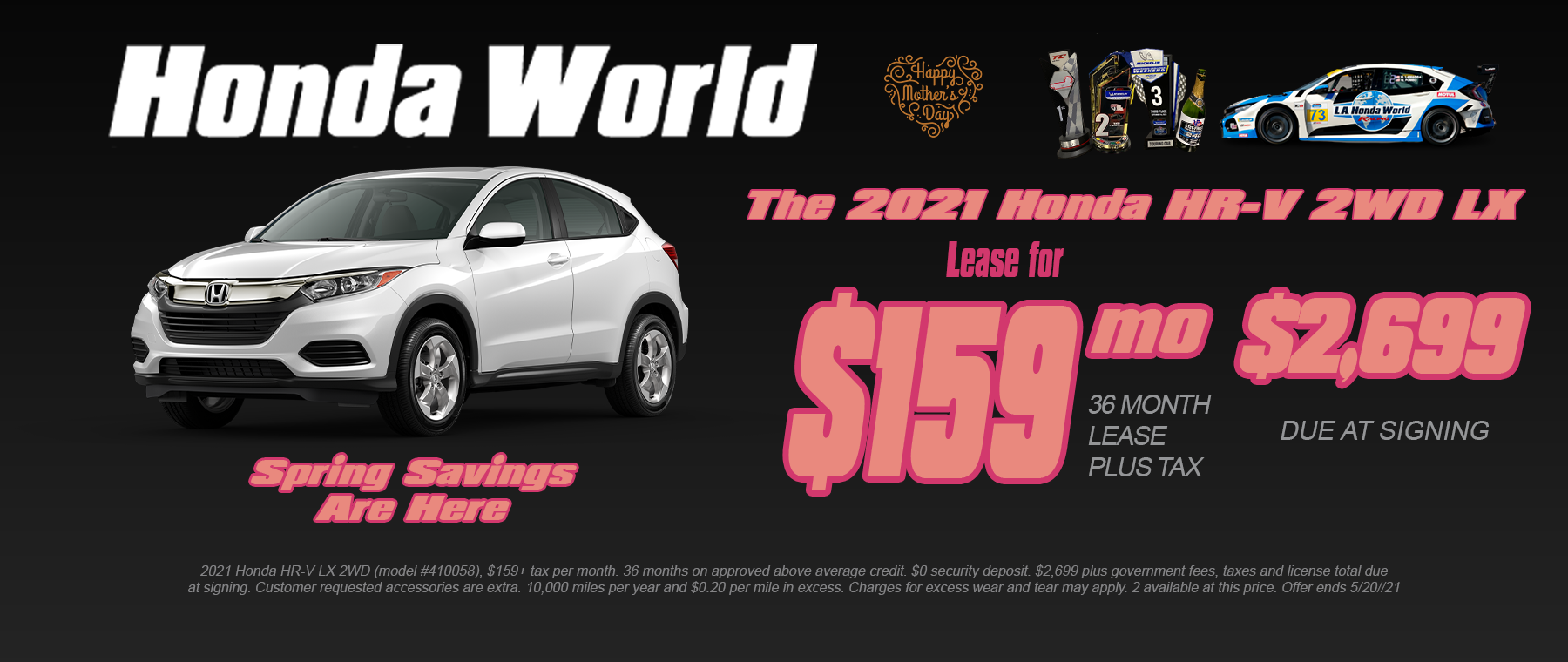 Honda HR-V Lease Special Los Angeles