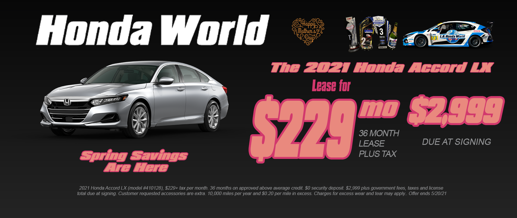 Honda Accord Lease Offer Los Angeles