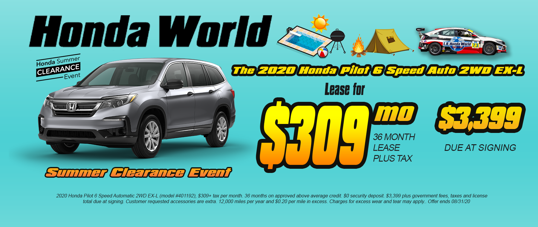 Honda Pilot Lease Los Angeles