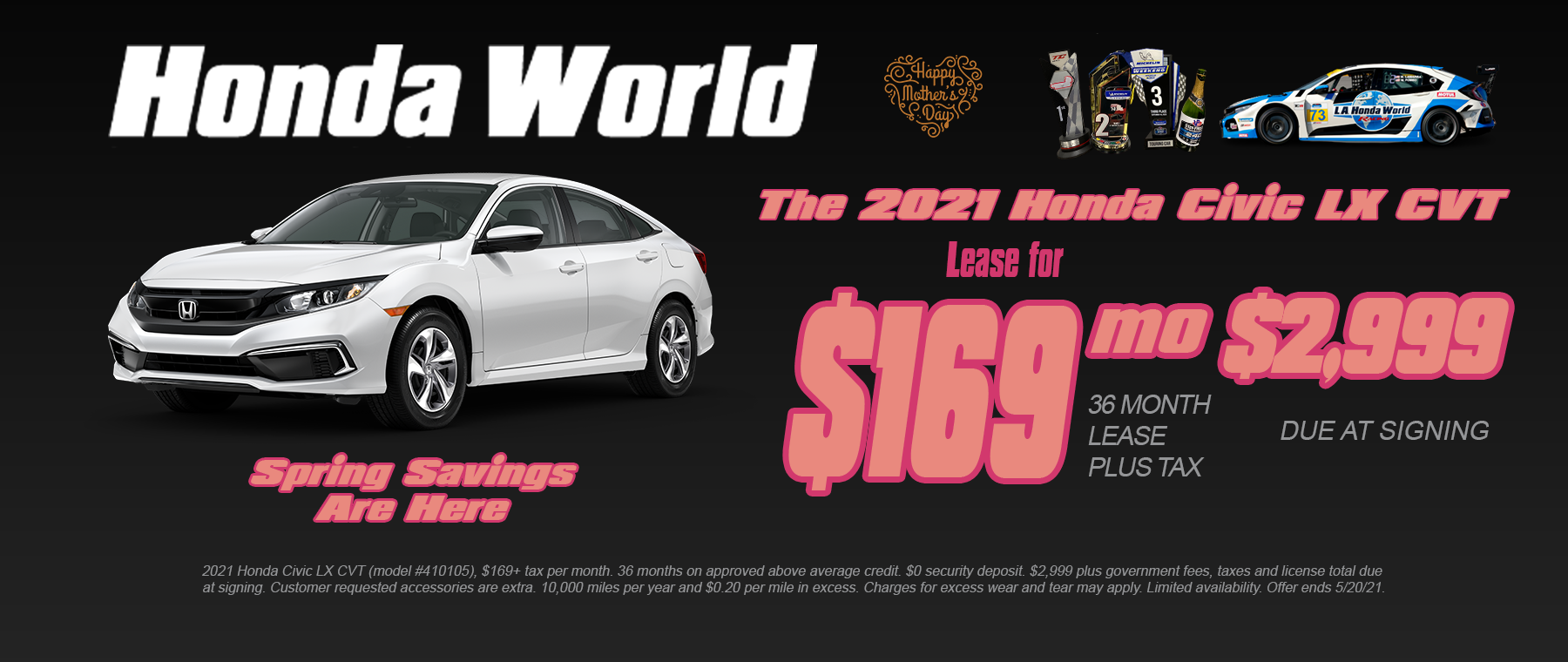 Honda Civic Lease Offer Los Angeles