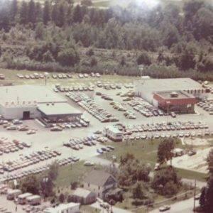 aerial photo of hoselton auto mall complex