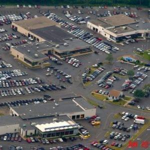 aerial view of hoselton auto mall