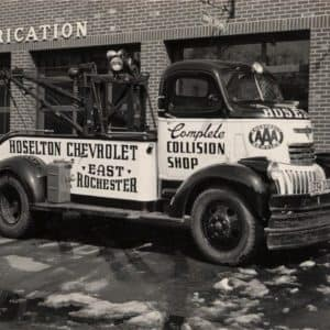 Hoselton Collision original collision shop truck