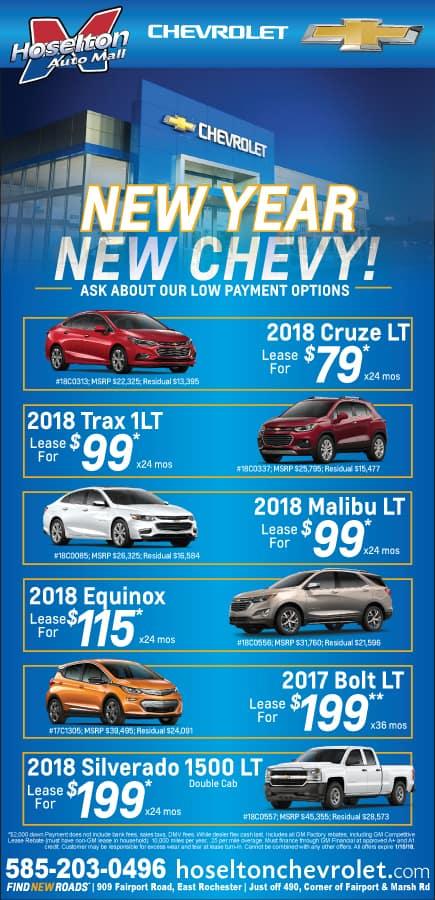 Hoselton Chevrolet's January Specials