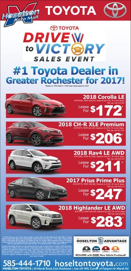 Hoselton Toyota's January Specials