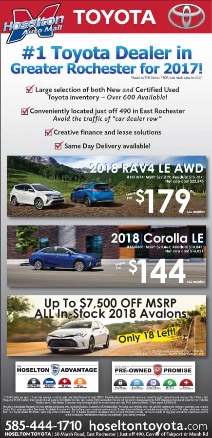 Hoselton Toyota March Offer