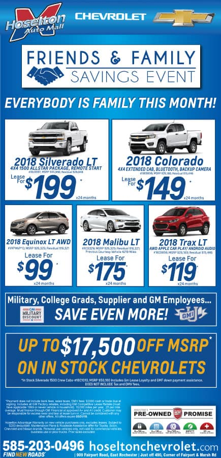 Friends and Family Savings Event at Hoselton Auto Mall