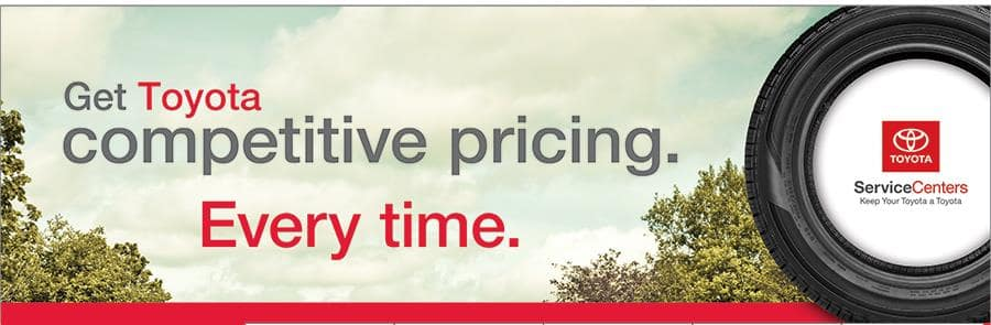 Get Toyota competitive pricing every time