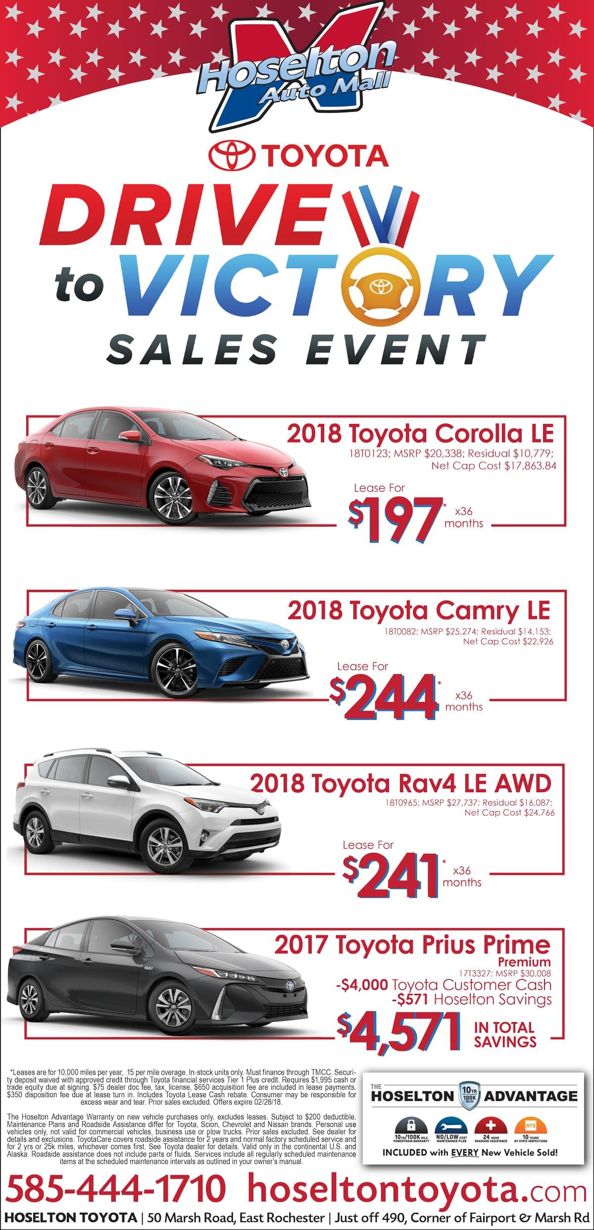 February offer from Hoselton Toyota