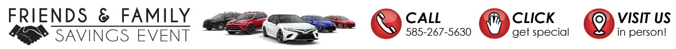 Friends and Family Savings Event this May at Hoselton Toyota