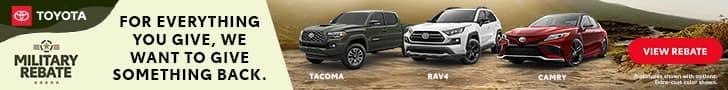 Toyota, Military Rebates
