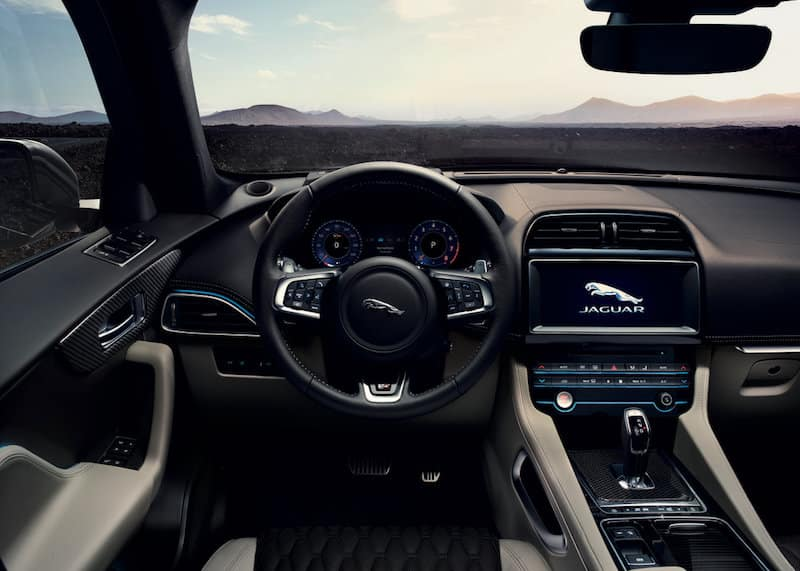 2018 F-Pace SVR interior