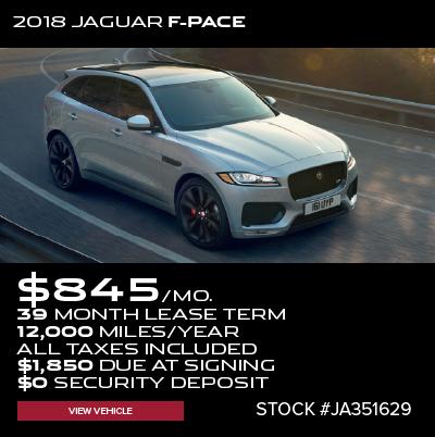 New 2018 Jaguar F-PACE 30t R-Sport With Navigation & AWD