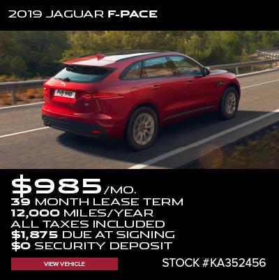 New 2019 Jaguar F-PACE S AWD