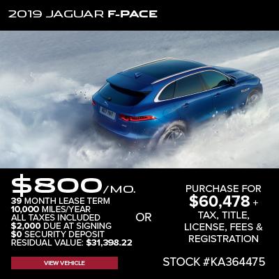 New 2019 Jaguar F-PACE 25t R-Sport AWD