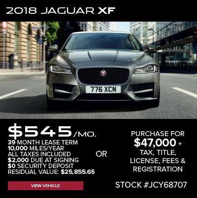 New 2018 Jaguar XF Premium RWD 4D Sedan