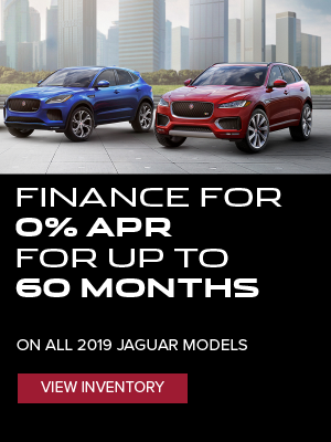 0% APR for up to 60 Months on All 2019 Jaguar Vehicles**