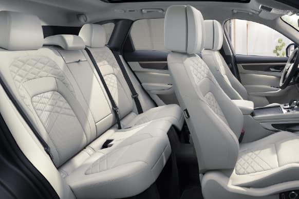 F-PACE interior cab.