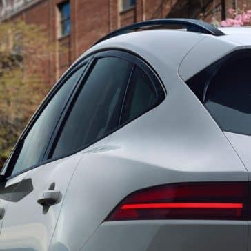 2018 Jaguar E PACE closeup shot of side