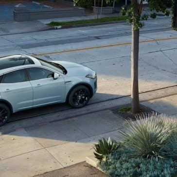 2018 Jaguar E PACE parked on side of street