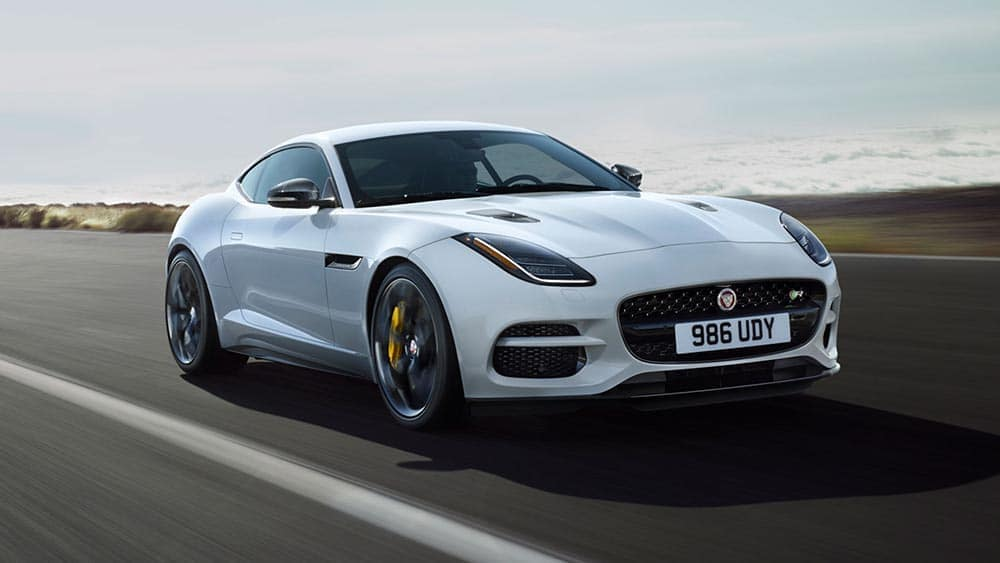 2019 jaguar f-type coupe f-type r in yulong white with-silver weave carbon fiber packages