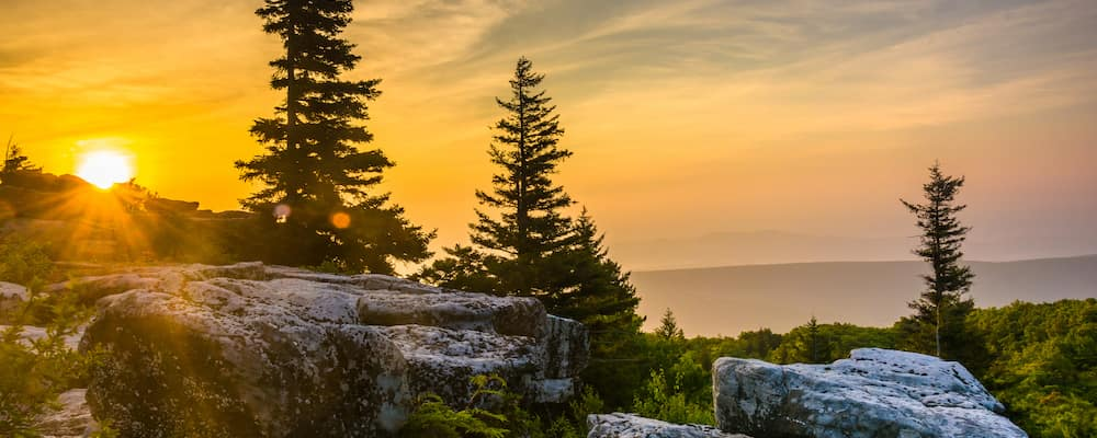 Bear Rocks Preserve in Monongahela National Forest, West Virginia