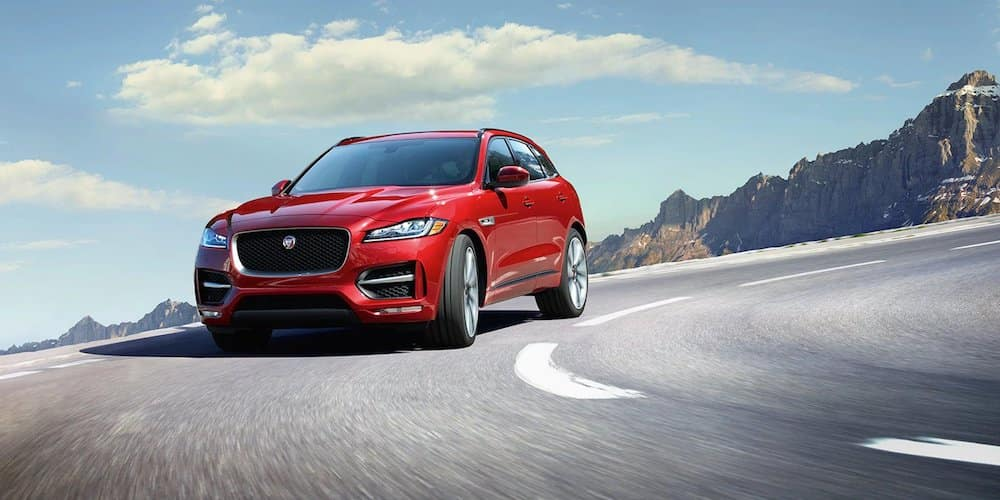 2019 f-pace taking turn on highway