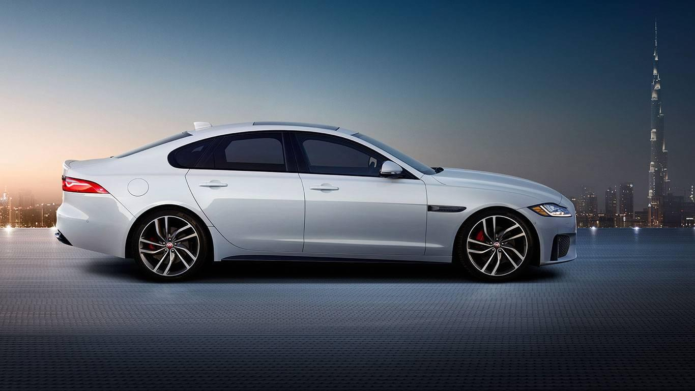 2017 XF Exterior side view of the exterior