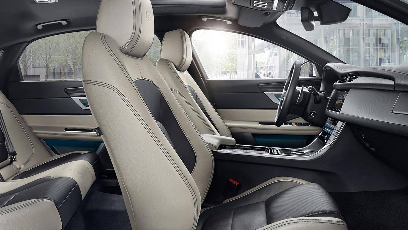 2017 XF Exterior front interior seating