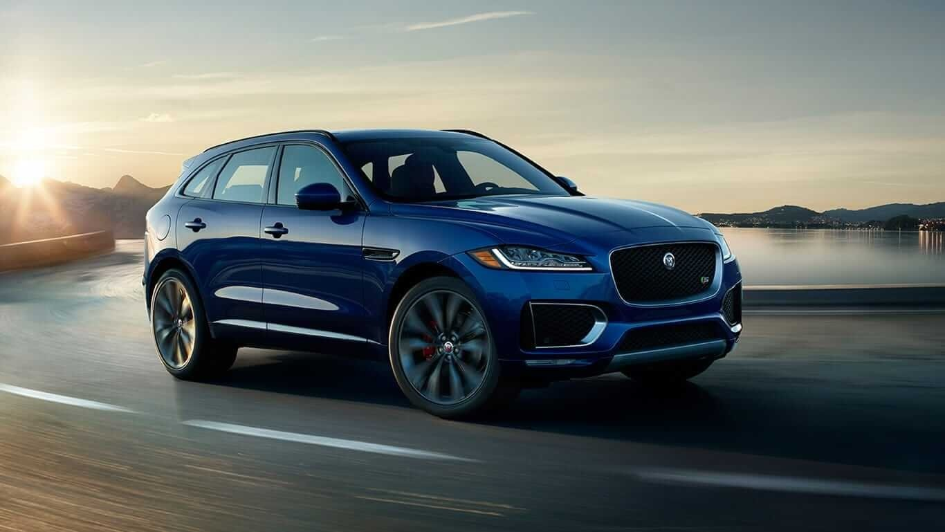 2018 Jaguar F-PACE on the road