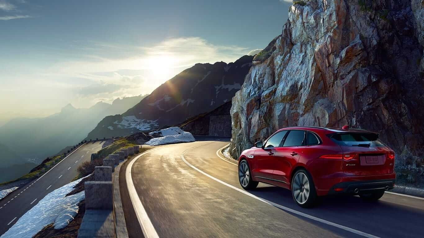 2018 Jaguar F-PACE rear view