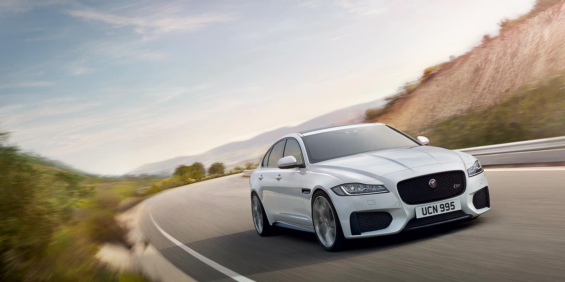 Jaguar XF white exterior