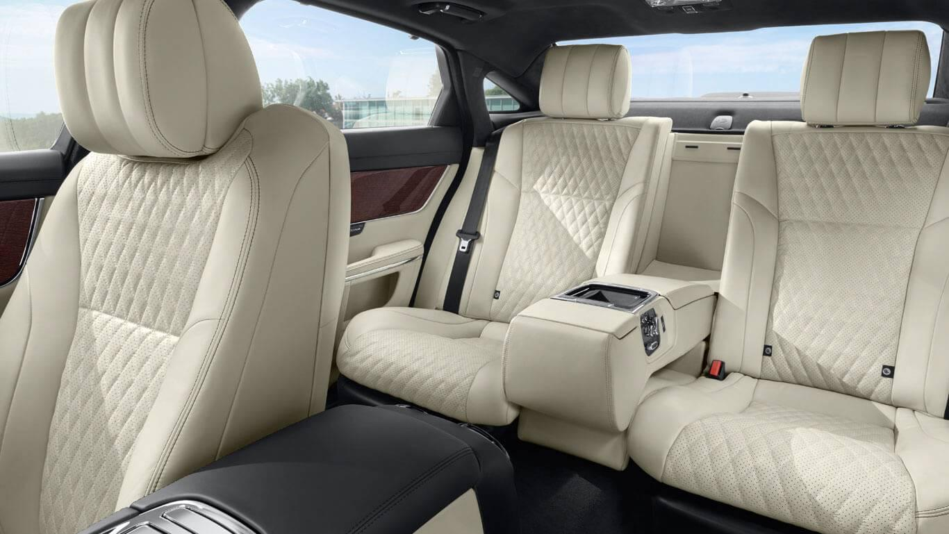 2017 Jaguar XJ rear seating