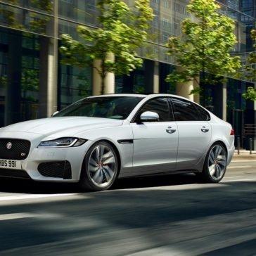 2018 Jaguar XF white exterior