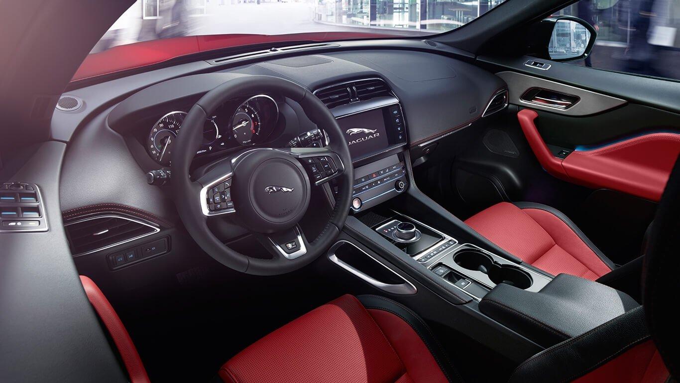 2018 Jaguar F-PACE front interior features