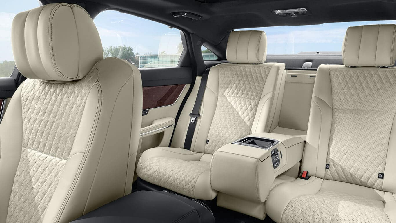 2018 Jaguar XJ seating in the rear