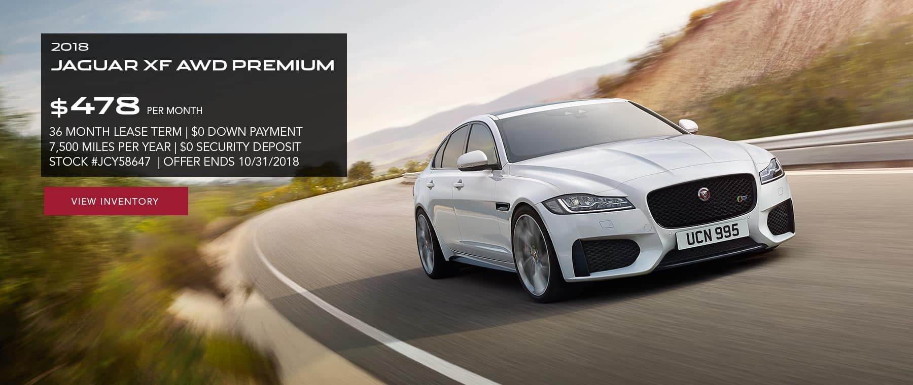 Check Dealer For Availability. Offer Must Be Presented At Time Of Purchase.  See Jaguar Of Paramus For Details.