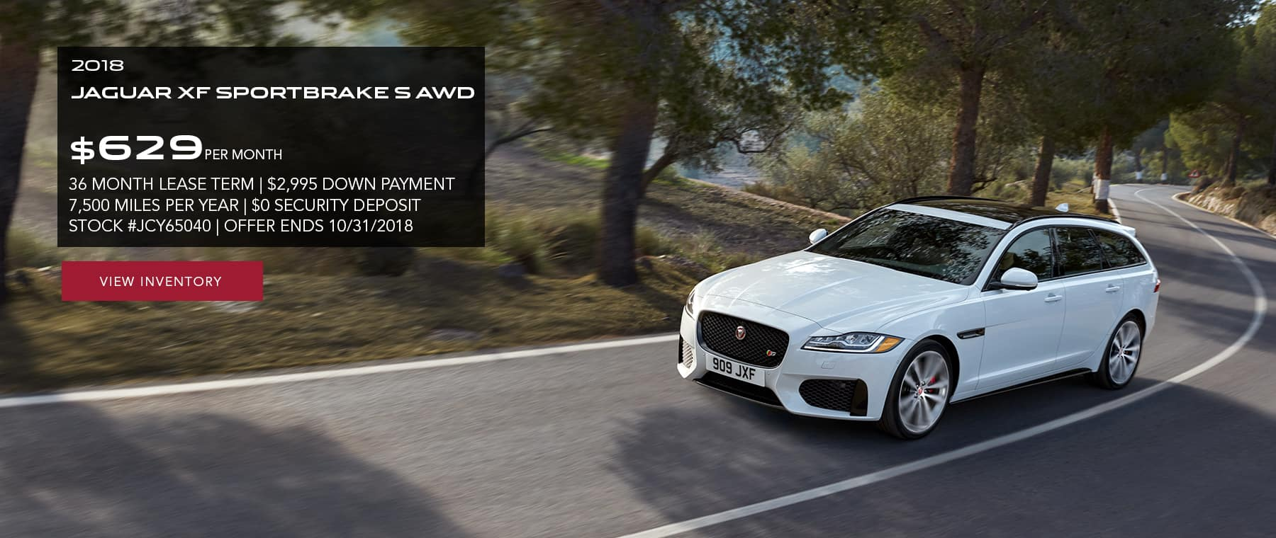 Nice Check Dealer For Availability. Offer Must Be Presented At Time Of Purchase.  See Jaguar Of Paramus For Details.