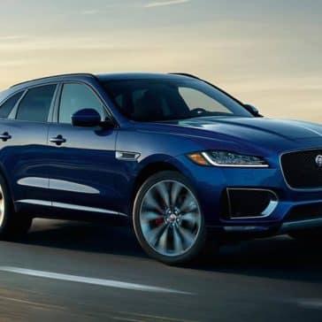 2019 Jaguar F-PACE blue exterior