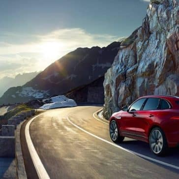 2019 Jaguar F-PACE on the road