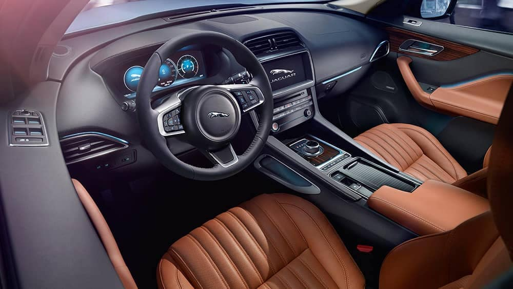 2019 Jaguar F-PACE front interior features