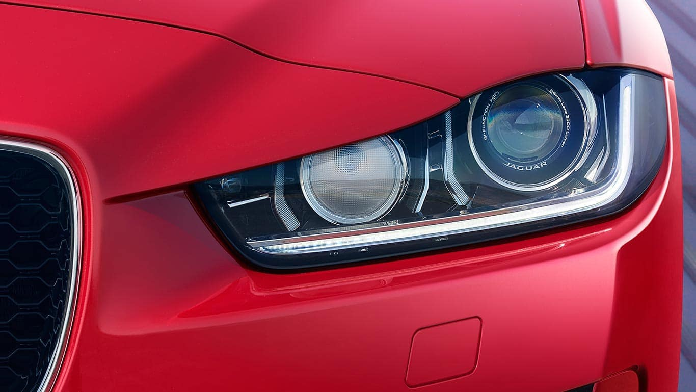 2019 Jaguar XE headlights up close