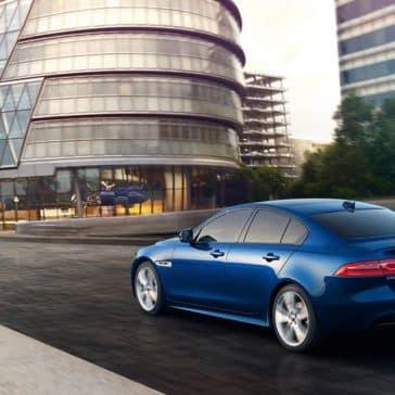 2019 Jaguar XE blue exterior