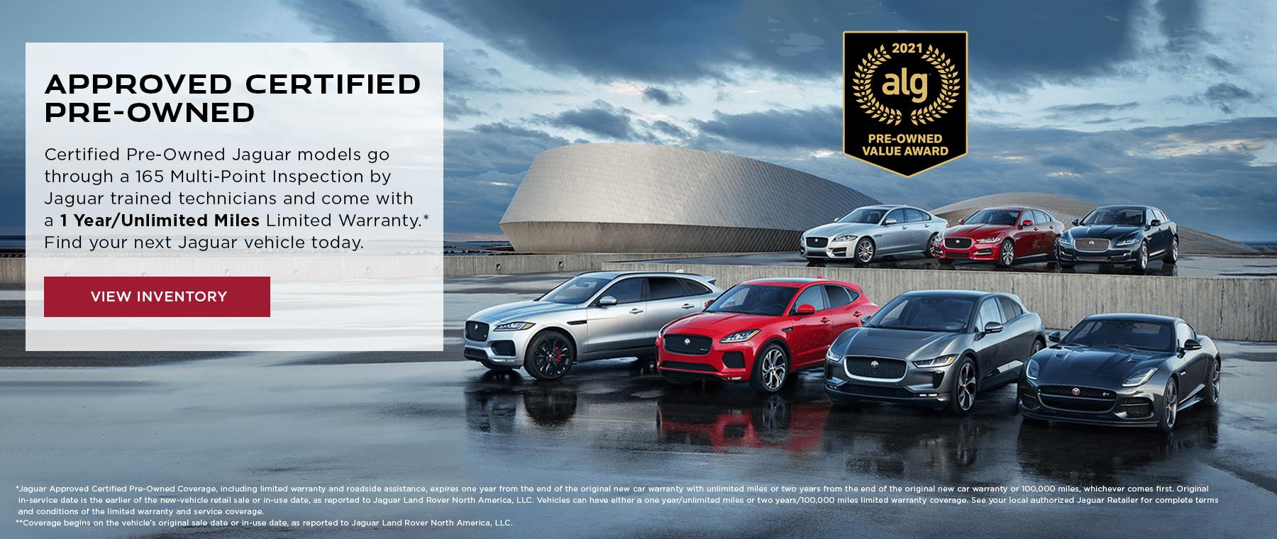 Jaguar Certified Pre-Owned Vehicles